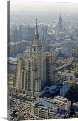 Russia, Moscow. Kudrinskaya Square Building, Seven Sisters skyscraper