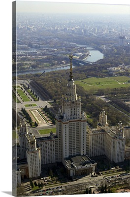 Russia, Moscow. Moscow State University, Seven Sisters skyscraper