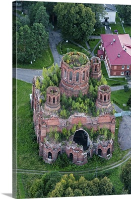Russia, Moscow region. Abandoned church.