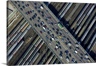 Russia, Moscow. The Third Ring Road near Krasnoselskaya Metro st