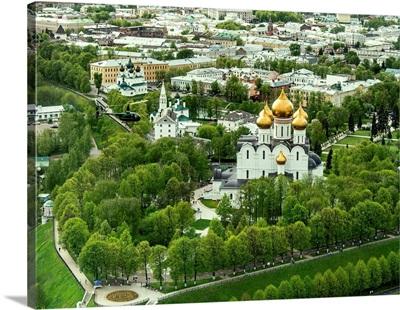 Russia, Yaroslavl region. Yaroslavl. Dormition Cathedral.