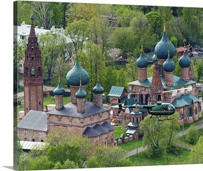 Russia, Yaroslavl region. Yaroslavl. The ensemble of churches in