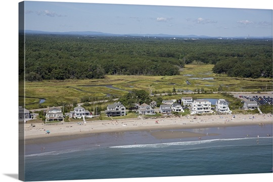 Rye Beach New Hampshire Usa Aerial Photograph