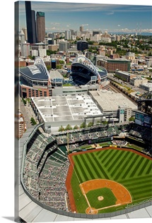 Safeco Field, Home Of Seattle Mariners, Seattle - Aerial Photograph