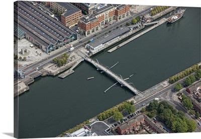 Sean O'Casey Bridge, Dublin, Ireland - Aerial Photograph