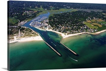 Sesuit Harbor And Dennis Yacht Club, Dennis, Cape Cod - Aerial Photograph