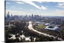 South of Melbourne Skyline, Melbourne, Australia - Aerial Photograph