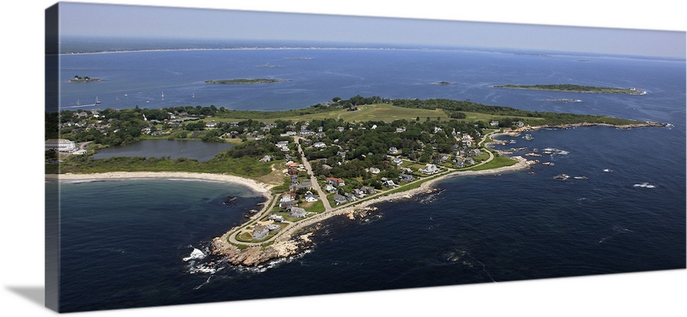 South Point Biddeford Pool Beach Biddeford Maine Aerial Photograph Wall Art Canvas Prints Framed Prints Wall Peels Great Big Canvas