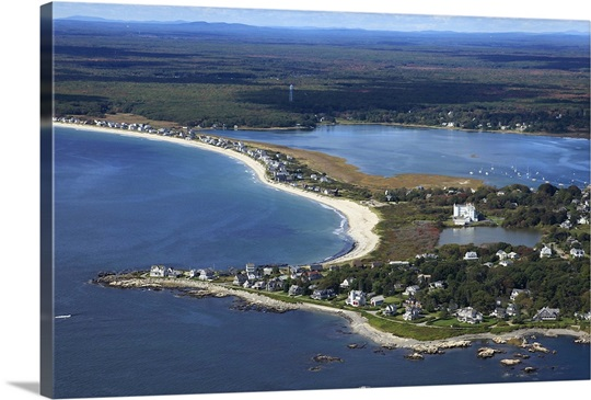 South Point Biddeford Pool Beach Maine Usa Aerial Photograph