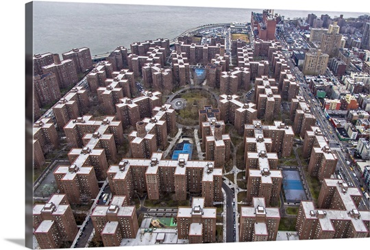 Stuyvesant town new york city aerial photograph wall for Stuyvesant town nyc