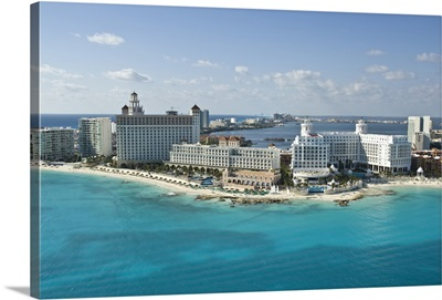 The Hotel Zone At Punta Cancun,Cancun, Mexico - Aerial Photograph