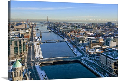 The Liffey, Dublin, Ireland - Aerial Photograph