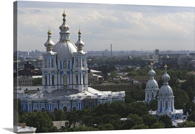 The Smolny convent cathedral is the gem of Russian architecture