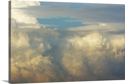 Thunderstorms At Sunset - Aerial Photograph