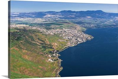Tiberias, Sea of Galilee, Israel - Aerial Photograph