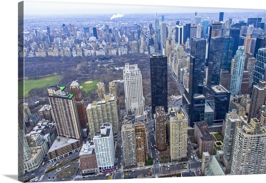 New York City Canvas Wall Art trump tower, new york city - aerial photograph wall art, canvas