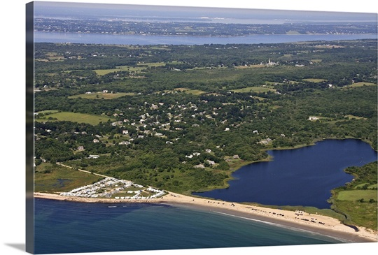 Tunipus Pond And South S Beach Little Compton Aerial Photograph