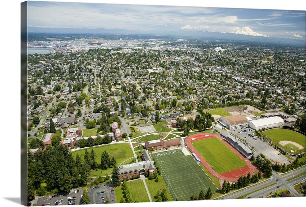 University of Puget Sound, Tacoma, WA, USA - Aerial Photograph ...