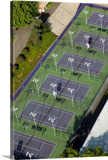 University of Washington Tennis Courts, Seattle - Aerial Photograph