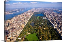 Upper West Side, Central Park, New York City - Aerial Photograph