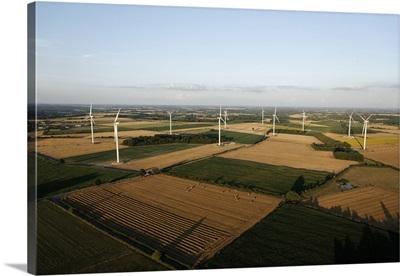 Wind Turbines, Archigny, France - Aerial Photograph