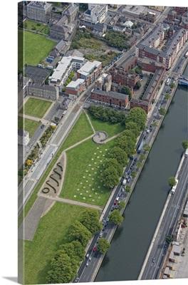 Wolfe Tone Quay, Dublin, Ireland - Aerial Photograph