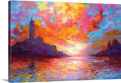 Sunset In Venice, A Homage To Claude Monet