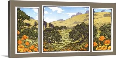 Poppy Center Triptych
