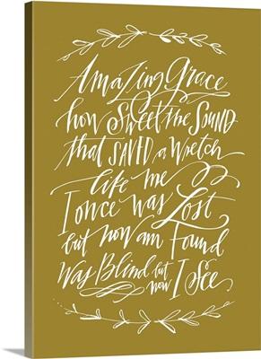Amazing Grace Laurel - Matte Gold