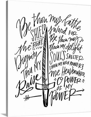 Be Thou My Shield - White