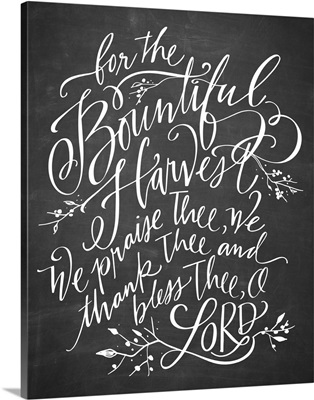 Bountiful Harvest - Blackboard