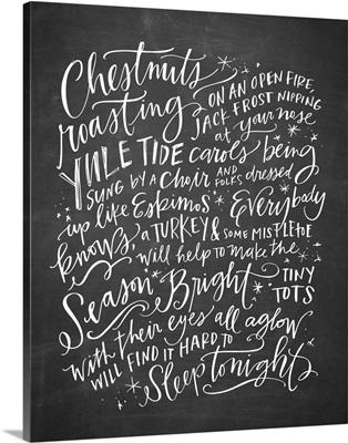 Chestnuts Roasting - Blackboard