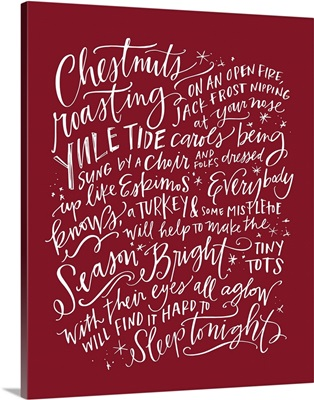 Chestnuts Roasting - Holiday Red