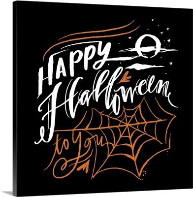 Happy Halloween - Black