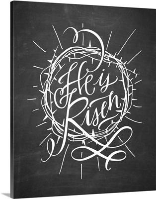 He Is Risen - Blackboard
