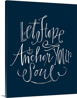 Let Hope Anchor - Nautical Navy