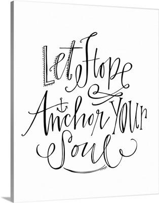 Let Hope Anchor - White