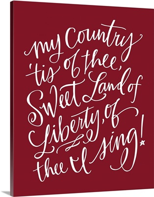 My Country - Holiday Red