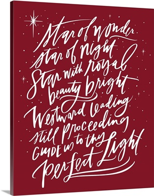 Star Of Wonder - Holiday Red