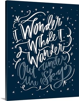 Wonder While I Wander - Nautical Navy