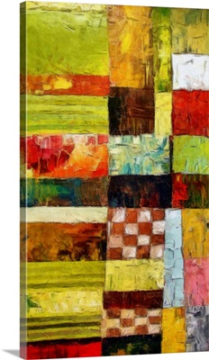 Abstract Color Study with Checkboard