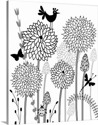All-A-Flutter Black and White I