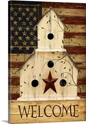 Americana Welcome Birdhouse
