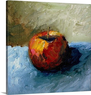 Apple Still Life with Grey and Olive