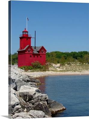 Big Red Lighthouse Holland MI