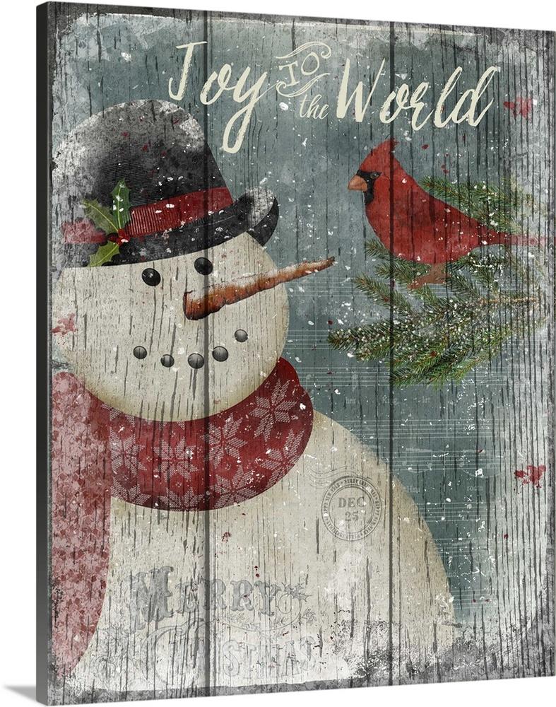 Cardinal Snowman Wall Art Canvas Prints Framed Prints Wall Peels Great Big Canvas