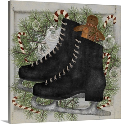 Christmas Candy Ice Skates