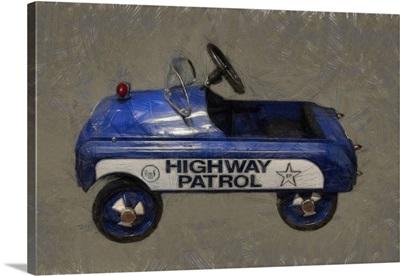 Highway Patrol Pedal Car
