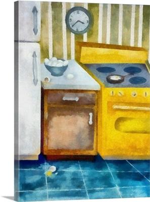 Kitchen with Broken Eggs