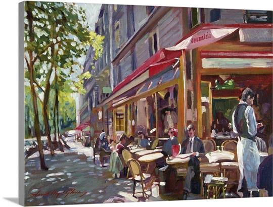 Paris Cafe Society Canvas